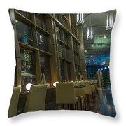 Yacht Club Restaurant Throw Pillow
