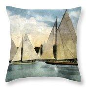 Yachting In Saugatuck Throw Pillow