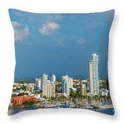 Yachts And Modern Cartagena Throw Pillow