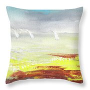 Yachts On The Riviera Throw Pillow