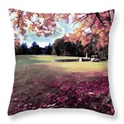 Yaddo Tree Throw Pillow