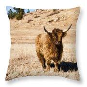 Yak Attack Throw Pillow