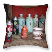 Yak Butter Thermoses Throw Pillow
