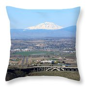 Yakima Valley Outlook With Mount Adams Throw Pillow