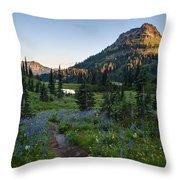 Yakima Peak At Sunrise Throw Pillow