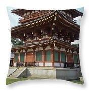 Yakushi-ji Temple West Pagoda - Nara Japan Throw Pillow