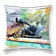 Yamaha Pelican Throw Pillow