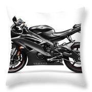 Yamaha R6 Supersport Motorcycle Throw Pillow