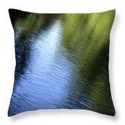 Yamhill River Abstract 24849 Throw Pillow