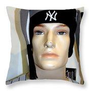 Yankee Fan Throw Pillow