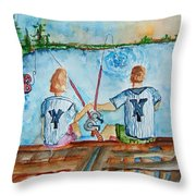 Yankee Fans Day Off Throw Pillow