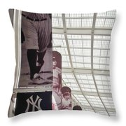 Yankee Old Timers Flags Throw Pillow