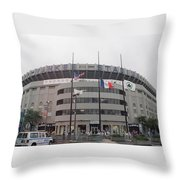 Yankee Stadium 1976 - 2008 Throw Pillow