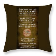 Yankees Peanuts And Cracker Jack  Throw Pillow