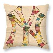 Yankees Vintage Art Throw Pillow
