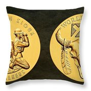Yankton Sioux Tribe Code Talkers Bronze Medal Art Throw Pillow