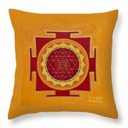 Yantra Throw Pillow