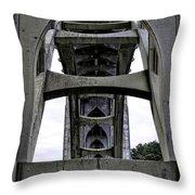 Yaquina Bay Bridge - Series C Throw Pillow