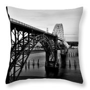 Yaquina Bay Bridge Throw Pillow by Benjamin Yeager