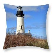 Yaquina Bay Lighthouse Throw Pillow