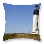 Yaquina Head Lighthouse 3 Throw Pillow