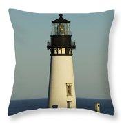 Yaquina Head Lighthouse 4 B Throw Pillow