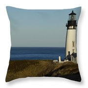 Yaquina Head Lighthouse 4 D Throw Pillow