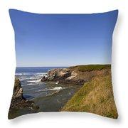 Yaquina Head Lighthouse 4 Throw Pillow
