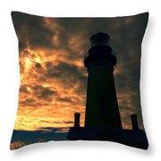 Yaquina Head Lighthouse 5 Throw Pillow