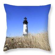 Yaquina Head Lighthouse Throw Pillow