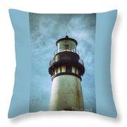 Yaquina Head Lighthouse Texture Throw Pillow
