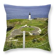 Yaquina Lighthouse From Salal Hill Trail  Throw Pillow