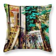 Yard Sale Antiques - Horizontal Throw Pillow