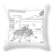 Yard Sale At The Romney's Features Karl Rove Throw Pillow
