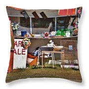 Yard Sale Throw Pillow