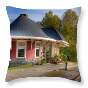 Yarmouth Grand Trunk Railroad Station I Throw Pillow