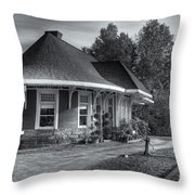 Yarmouth Grand Trunk Railroad Station II Throw Pillow
