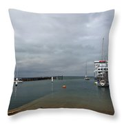 Yarmouth Harbour From The Slipway Throw Pillow