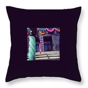 Yarnamention At The Perelman Building Throw Pillow by Katie Cupcakes