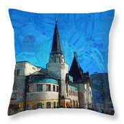 Yaroslavsky Railway Station Throw Pillow