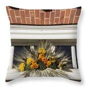 Yarrow And Lotus Arrangment Throw Pillow