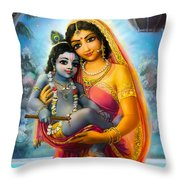 Yashoda And  Krishna Throw Pillow