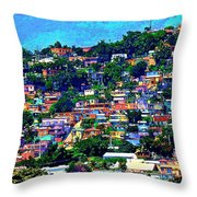 Yauco On The Hill Throw Pillow