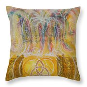 Yaweh El Shaddai Top Canvas Detail Throw Pillow