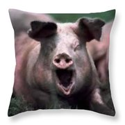 Yawn No I Am Not Ready For Bacon Yet Throw Pillow