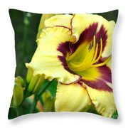 Yawning Lily Throw Pillow