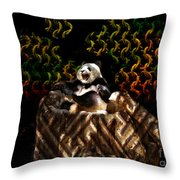 Yawning Panda  Throw Pillow