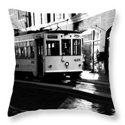 Ybor Street Car Throw Pillow