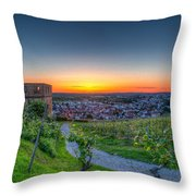 Yburg Sunset Throw Pillow