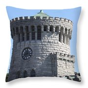 Ye Old Castle Clock Tower Throw Pillow